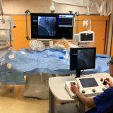 Primo impianto di stent in Italia con robot