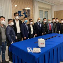 La comunità cinese della Campania dona alla ASL Napoli 1 centro mascherine e gel disinfettante
